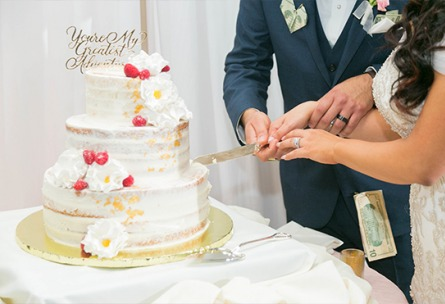 Bride and groom cutting their cake - Union Brick - Roseville, California, Placer County - Wedgewood Weddings