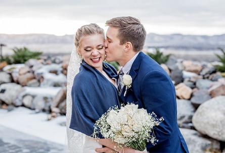 Cheerful newlyweds - Ashley Ridge - Littleton, Colorado - Arapahoe County - Wedgewood Weddings