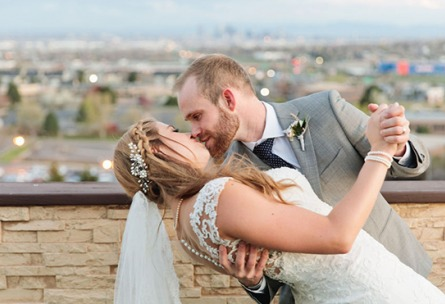 Kiss with a view - Brittany Hill - Thornton, Colorado - Adams County - Weld County - Wedgewood Weddings
