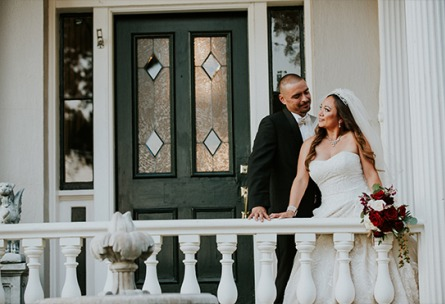 Couple look lovingly into each others eyes - Jefferson Street Mansion - Benicia, California - Solano County - Wedgewood Weddings