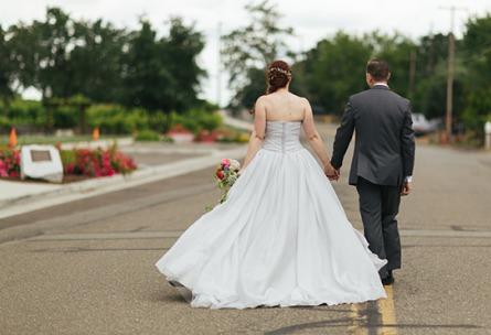 Newlywed couple - Union Brick - Roseville, California, Placer County - Wedgewood Weddings