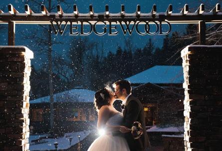 Snowy Kiss - Boulder Creek - Boulder, Colorado - Boulder County - Wedgewood Weddings