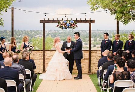 Outdoor wedding ceremony - Brittany Hill - Thornton, Colorado - Adams County - Weld County - Wedgewood Weddings
