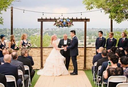 Outdoor wedding ceremony - Brittany Hill - Thornton, Colorado - Adams County - Weld County - Wedgewood Weddings