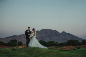 Stunning Golf Course and Mountain Backdrop at Wedgewood Weddings Las Vegas