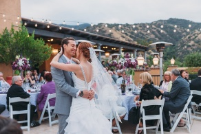 Outdoor wedding reception with stunning views - Wedgewood Weddings The Retreat – Corona, California