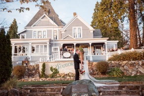 The front of Wedgewood Weddings Sequoia Mansion