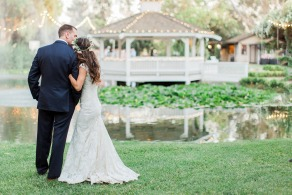 Outdoor wedding ceremony at Wedgewood Weddings The Orchard – Southern California