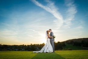 Kissing Couple - Wedgewood Weddings Indian Hills - Riverside