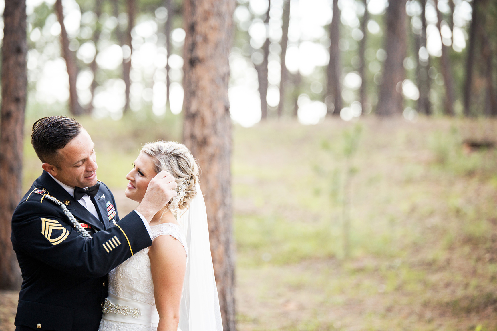 Couple in the Forest - Black Forest - Colorado Springs, Colorado - El Paso County - Wedgewood Weddings
