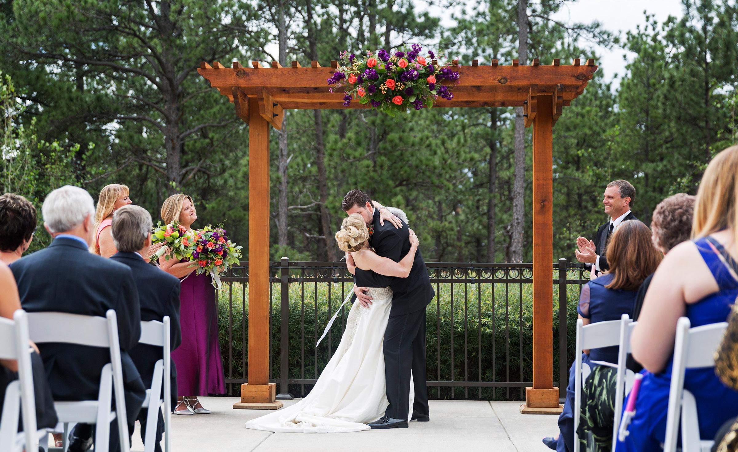 Outdoor ceremony - Black Forest - Colorado Springs, Colorado - El Paso County - Wedgewood Weddings