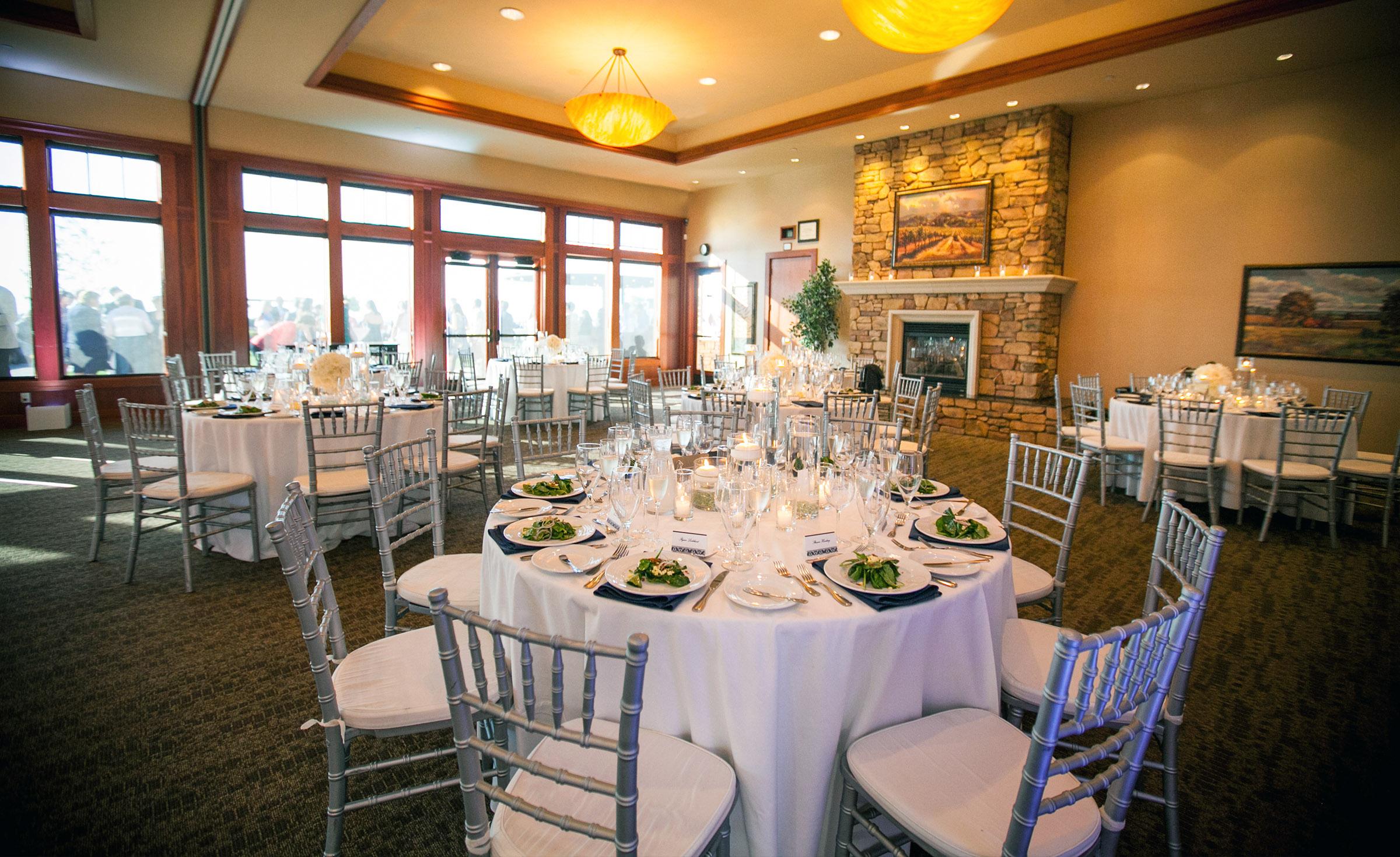 Elegant wedding reception with plenty of natural light - Boulder Ridge - Los Gatos, California - San Jose, California - Santa Clara County - Wedgewood Weddings