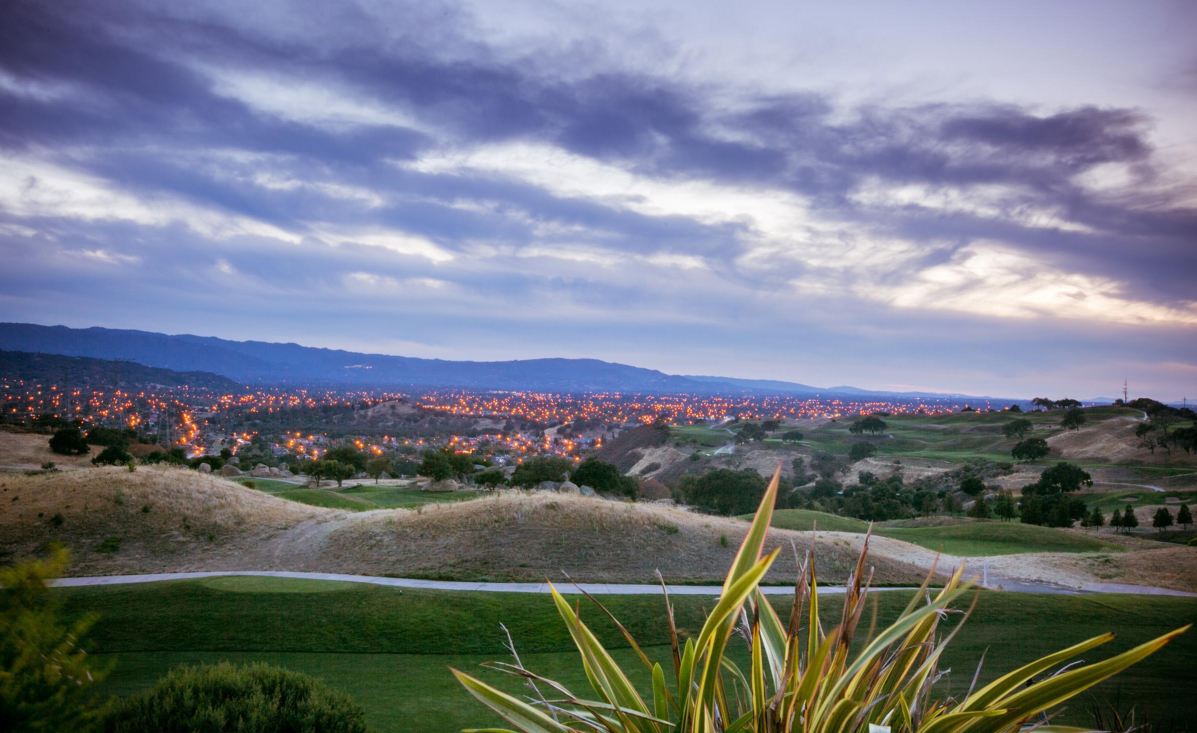 Sparkling City Lights - Boulder Ridge - Los Gatos, California - San Jose, California - Santa Clara County - Wedgewood Weddings