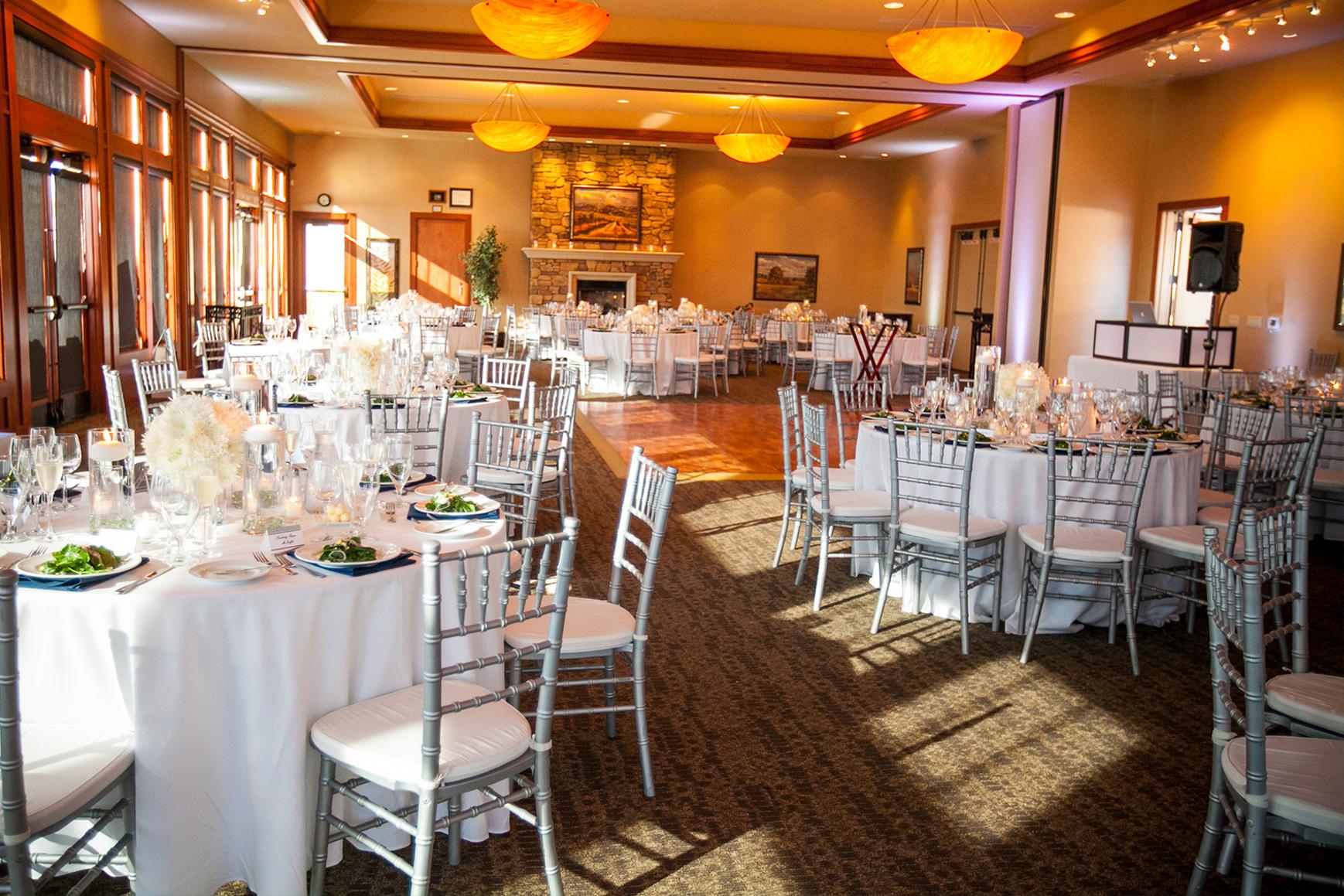 Elegant yet casual reception room - Boulder Ridge - Los Gatos, California - San Jose, California - Santa Clara County - Wedgewood Weddings