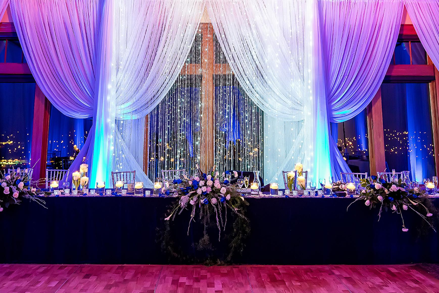 Stunning Head Table - Boulder Ridge - Los Gatos, California - San Jose, California - Santa Clara County - Wedgewood Weddings