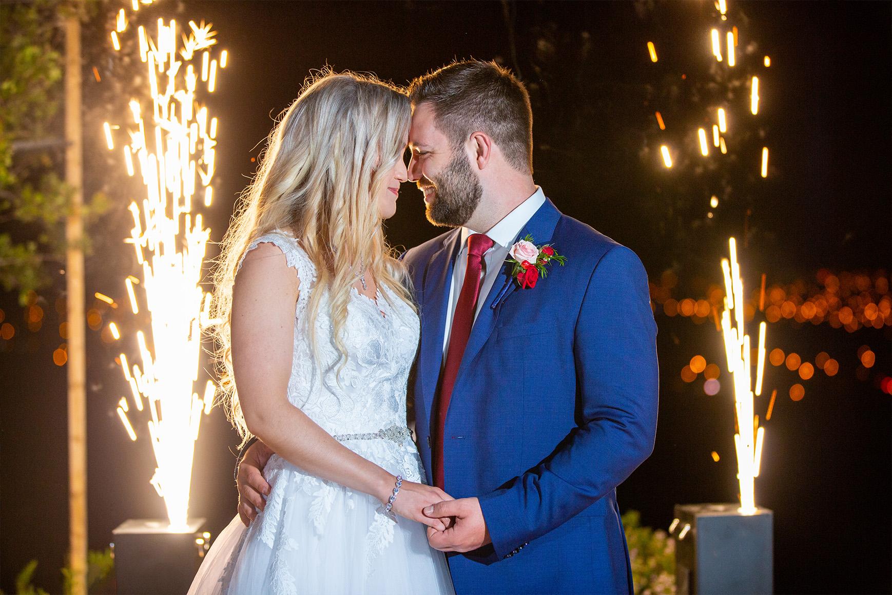 A grand sparkler moment to conclude your day - Boulder Ridge - Los Gatos, California - San Jose, California - Santa Clara County - Wedgewood Weddings