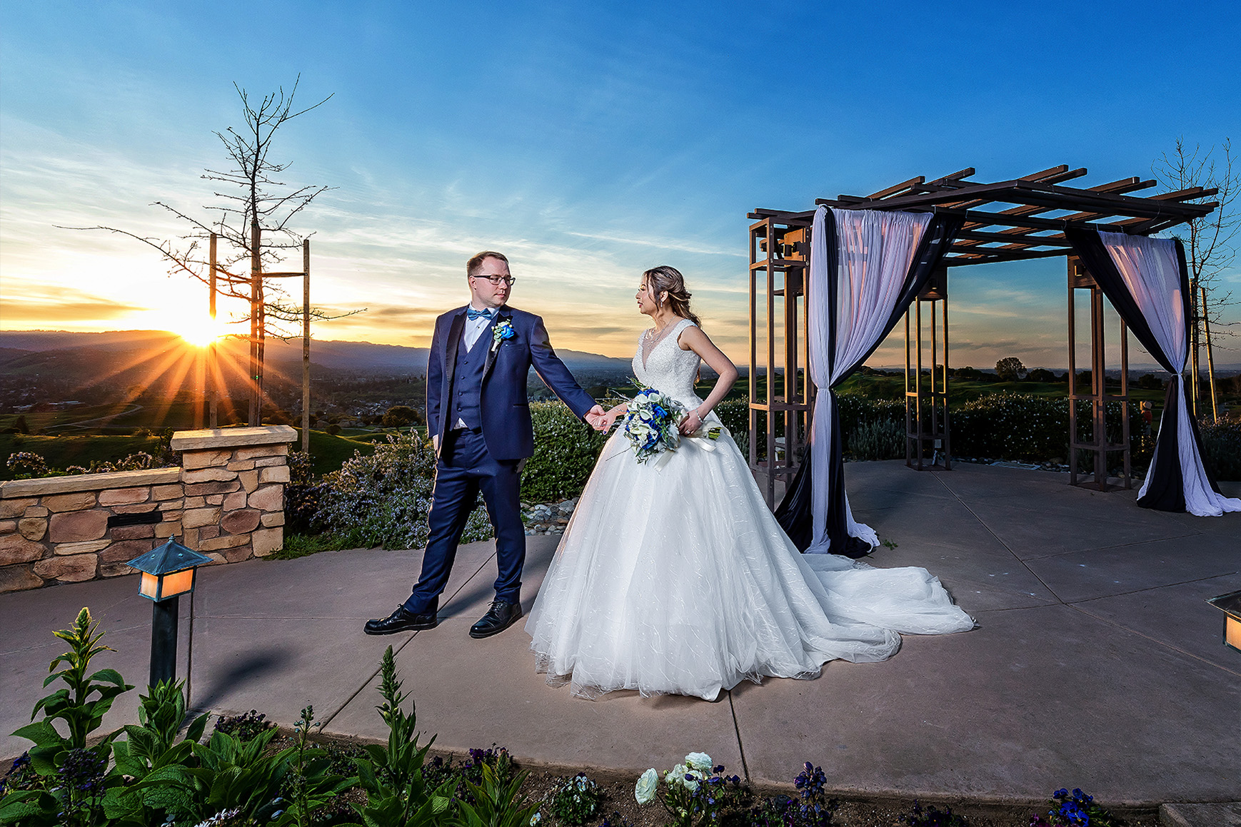 Dramatic Couple  - Boulder Ridge - Los Gatos, California - San Jose, California - Santa Clara County - Wedgewood Weddings