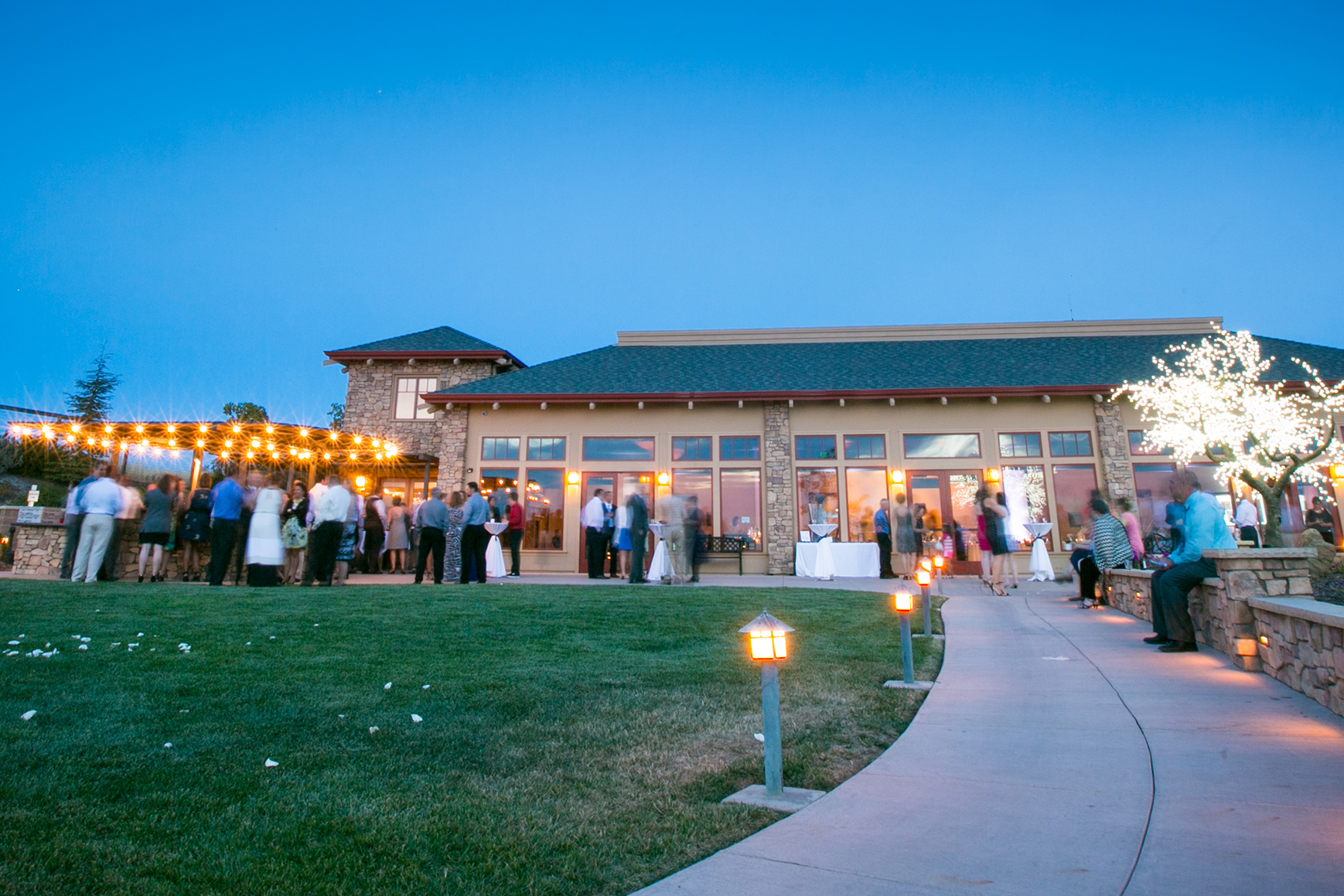 Cocktail Hour on the spacious patio - Boulder Ridge - Los Gatos, California - San Jose, California - Santa Clara County - Wedgewood Weddings