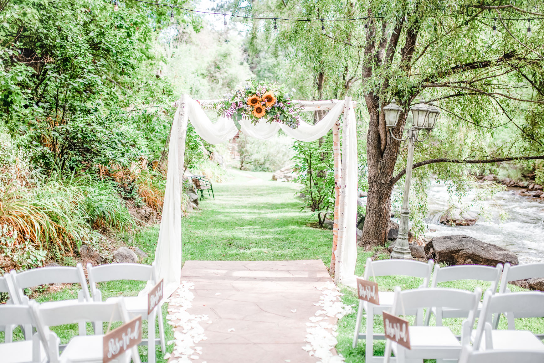 Creekside Ceremony Site - Boulder Creek - Boulder, Colorado - Boulder County - Wedgewood Weddings