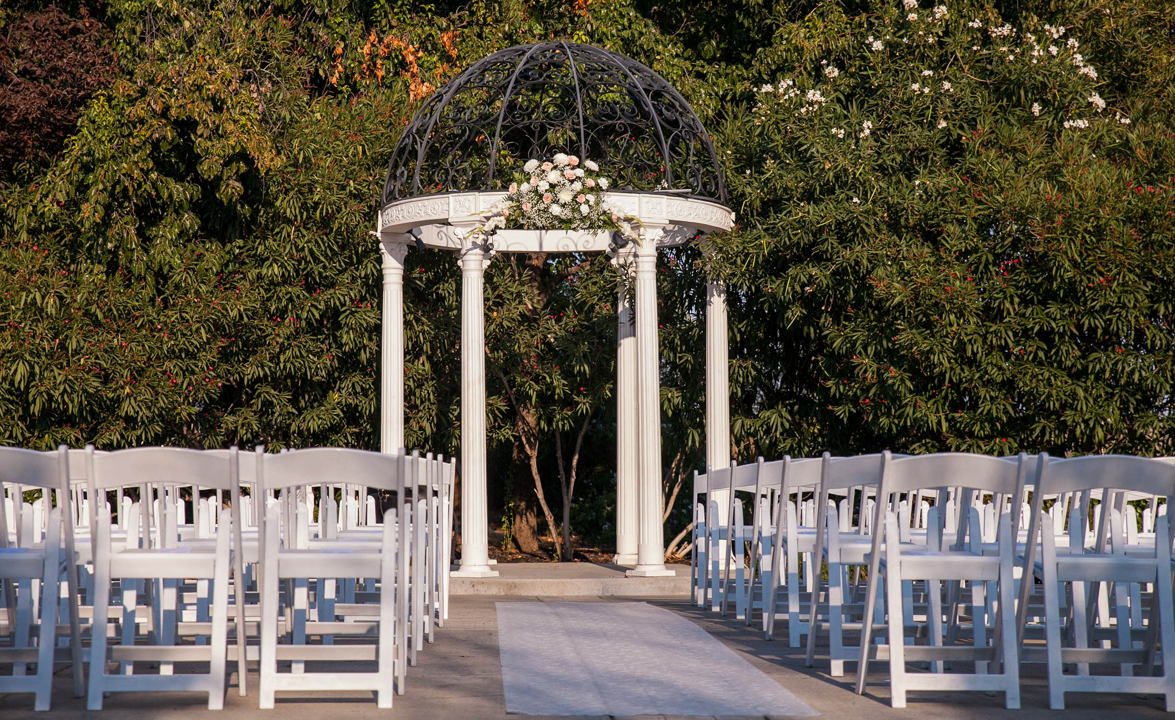 Outdoor wedding ceremony under the arbor - Brentwood - Brentwood, California - Contra Costa County - Wedgewood Weddings