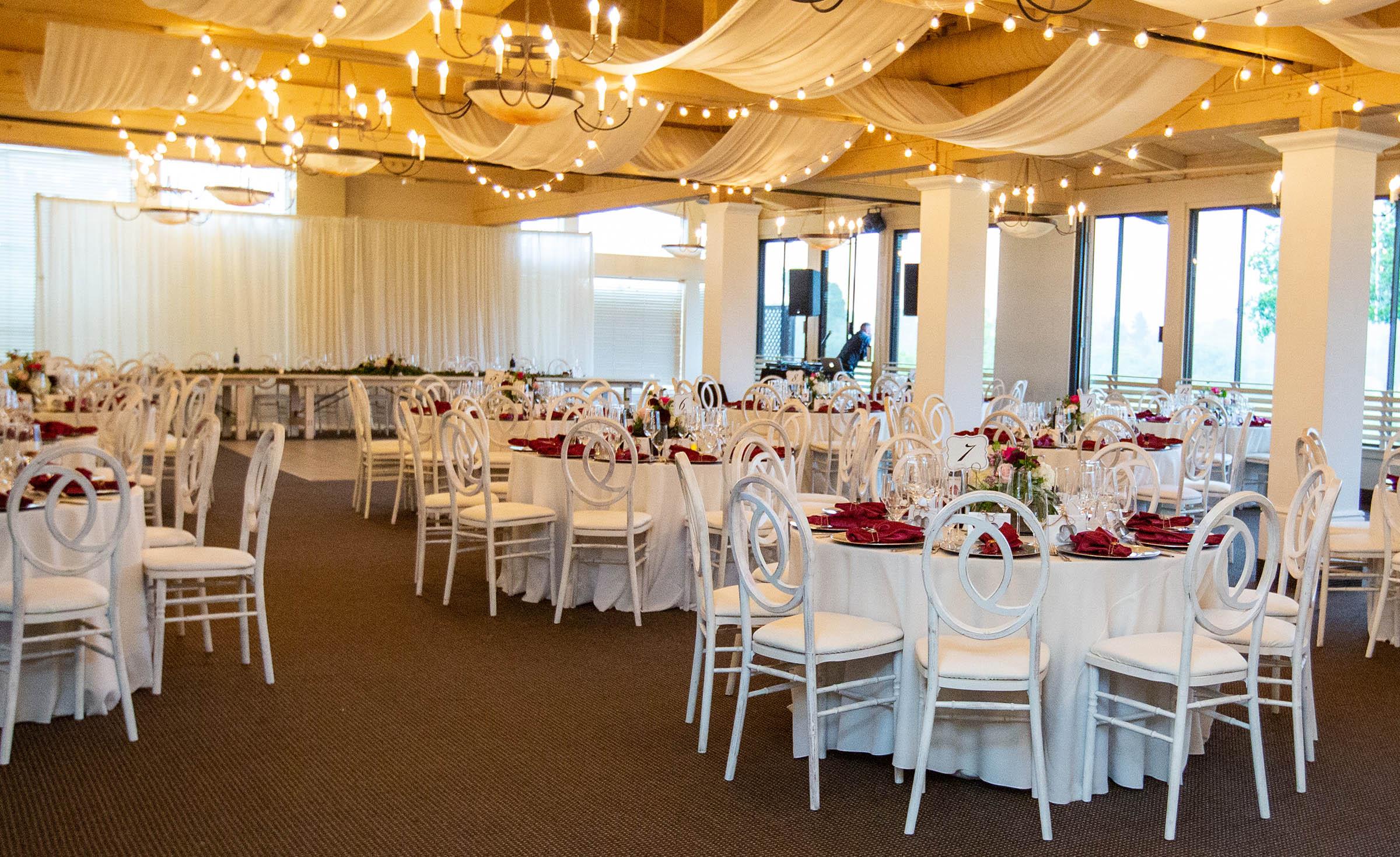 Wedding reception in the Merienda Room - Carmel - Carmel, California - Monterey County - Wedgewood Weddings