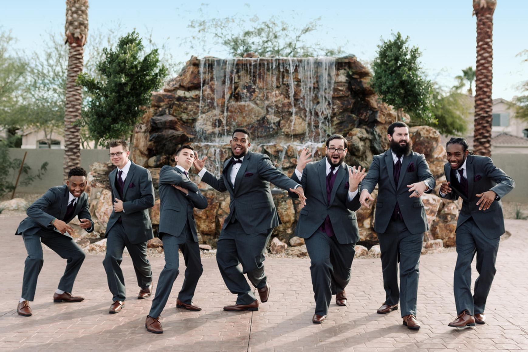Groomsmen - Colby Falls - Gilbert, Arizona - Maricopa County - Wedgewood Weddings