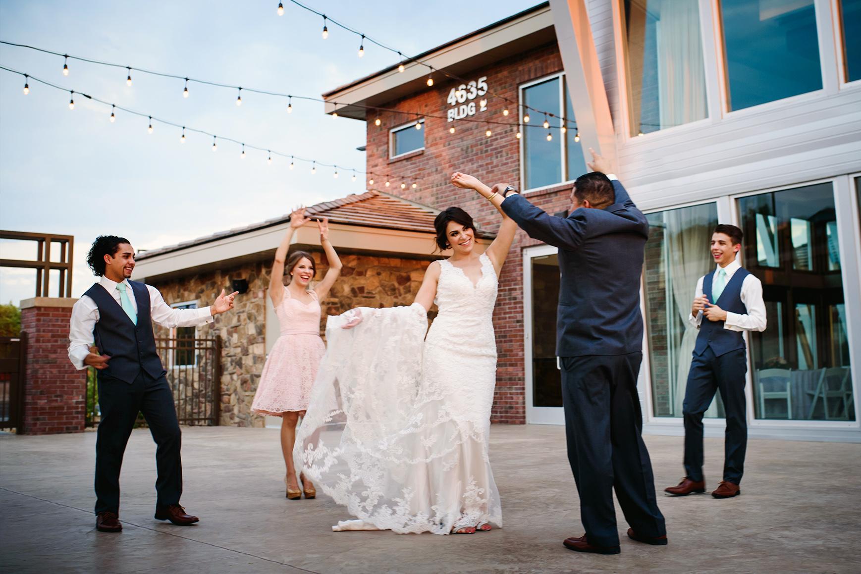 Wedding reception dancing - Colby Falls - Gilbert, Arizona - Maricopa County - Wedgewood Weddings
