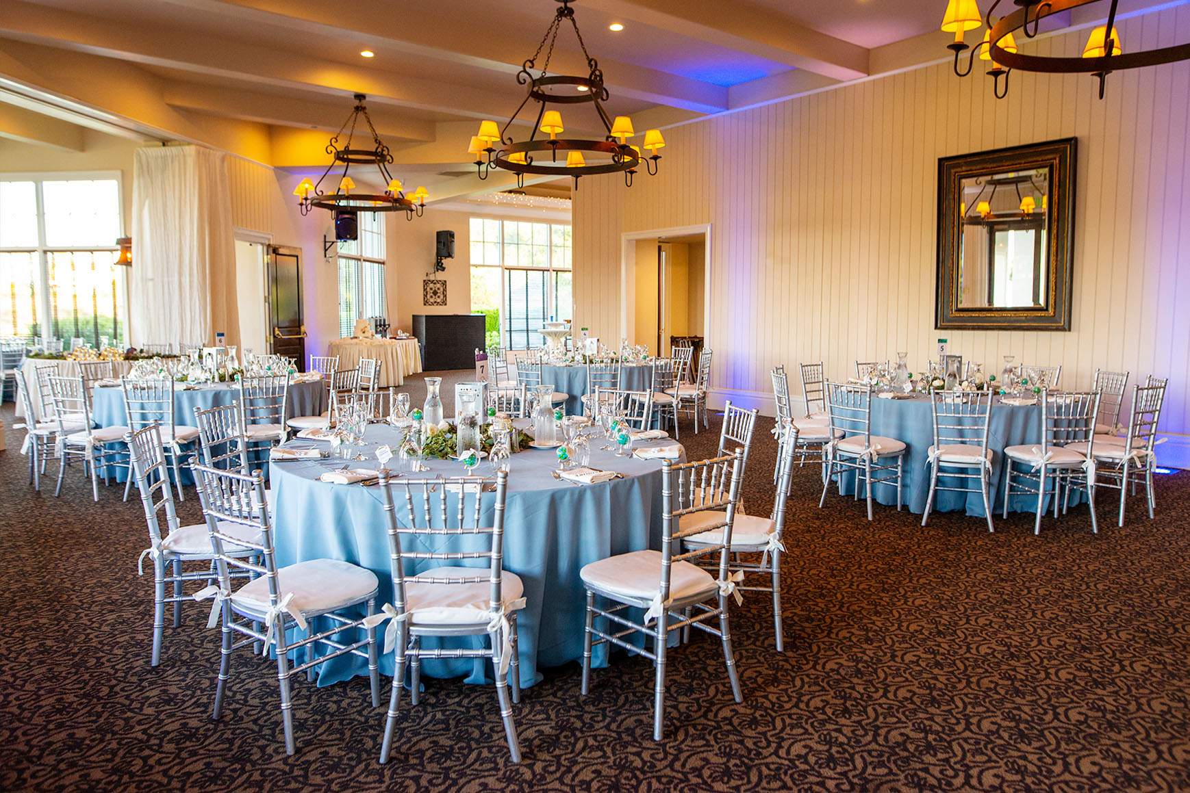 Charming reception room - Eagle Ridge - Gilroy, California - Santa Clara County - Wedgewood Weddings