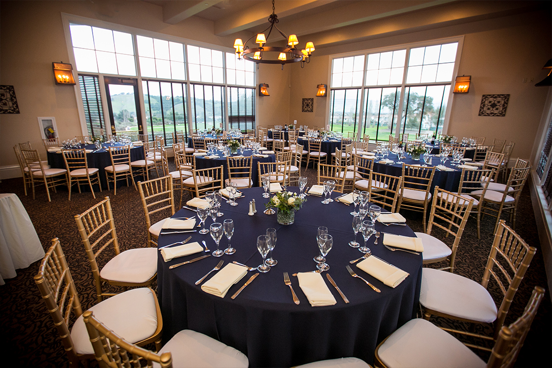 Reception room with plenty of natural light - Eagle Ridge - Gilroy, California - Santa Clara County - Wedgewood Weddings
