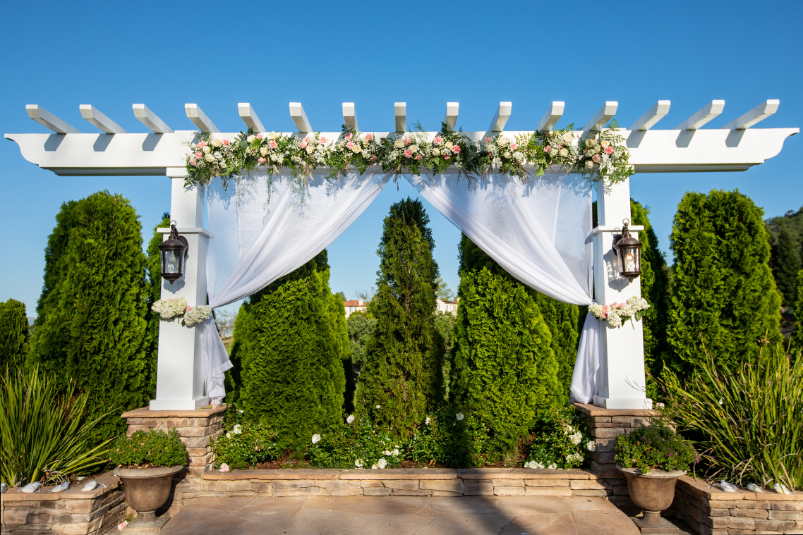 A beautiful ceremony backdrop - Eagle Ridge - Gilroy, California - Santa Clara County - Wedgewood Weddings