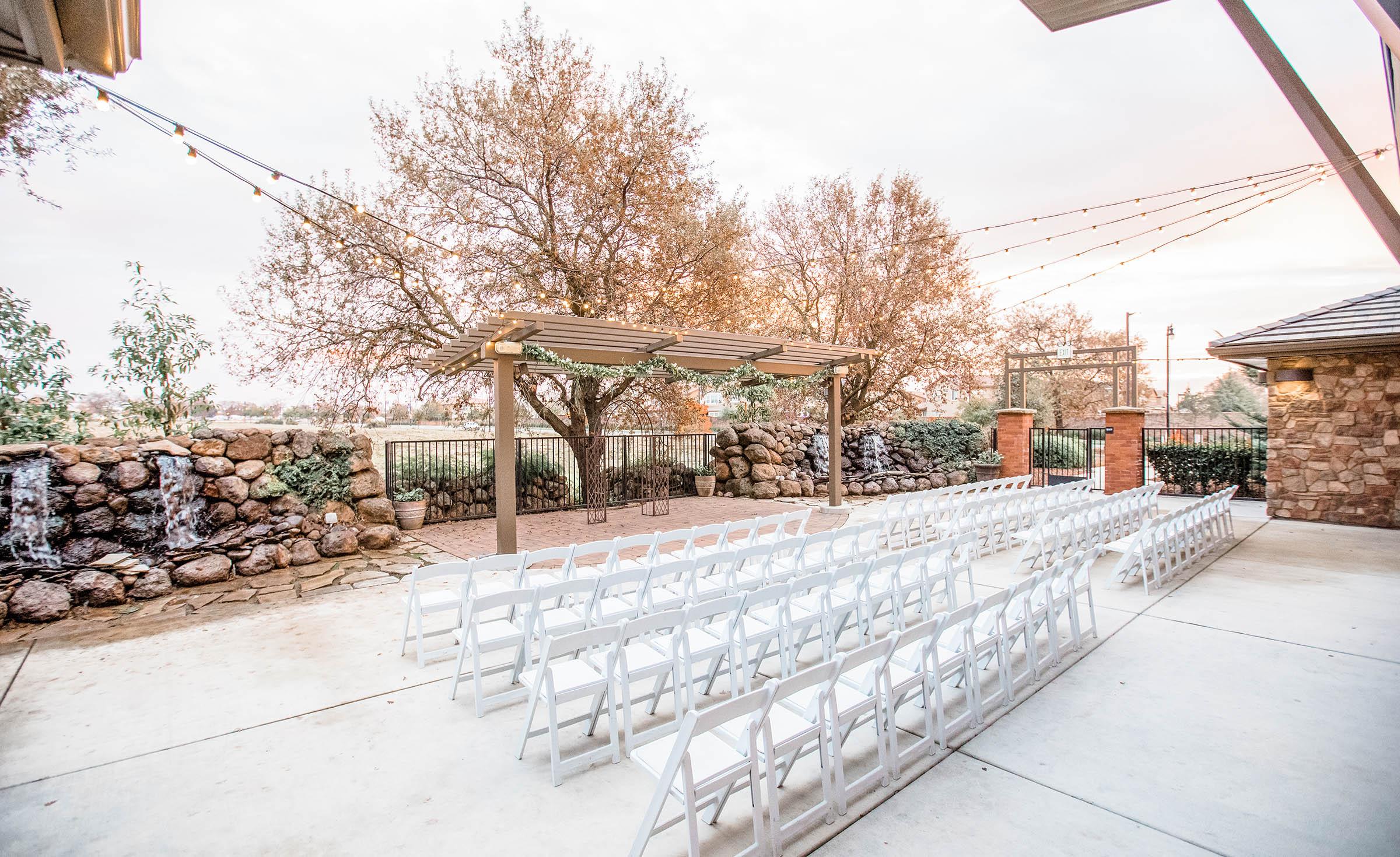 Ceremony site - Evergreen Springs - Elk Grove, California - Sacramento County - Wedgewood Weddings