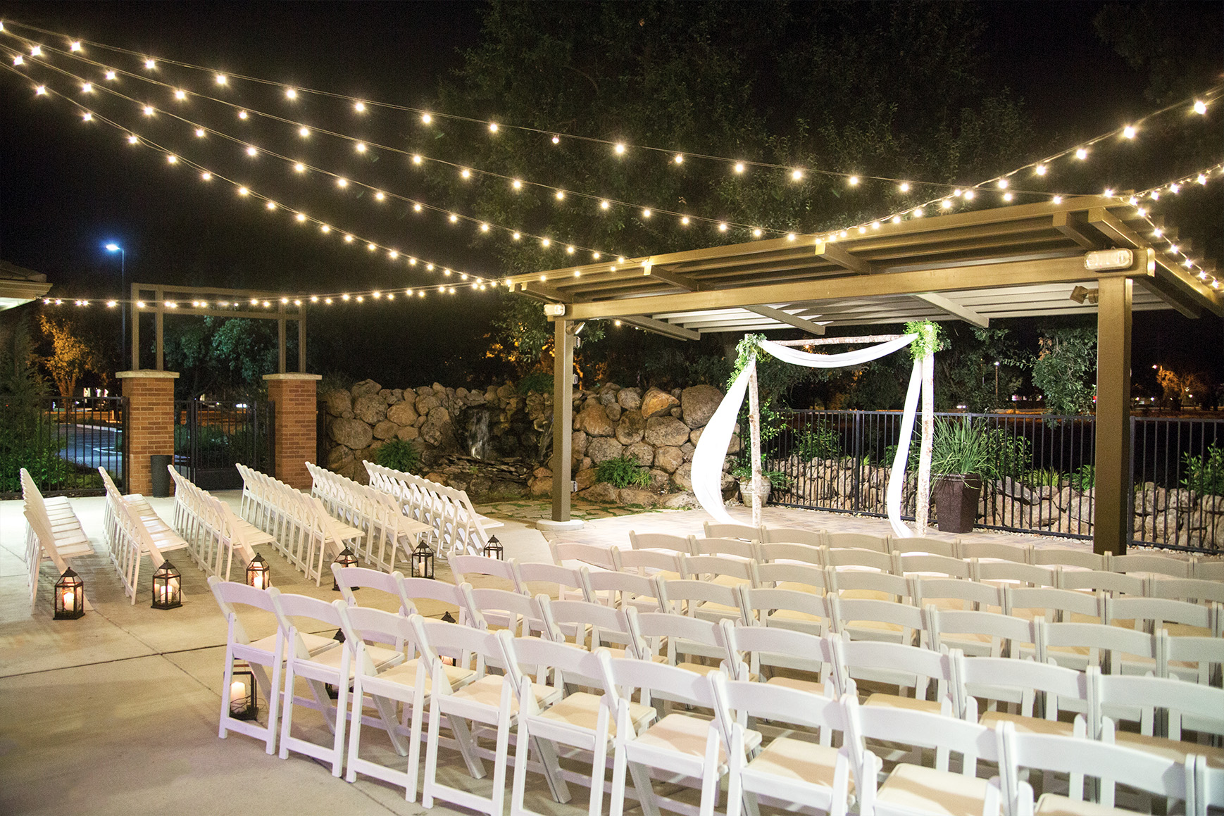 Evening ceremony - Evergreen Springs - Elk Grove, California - Sacramento County - Wedgewood Weddings
