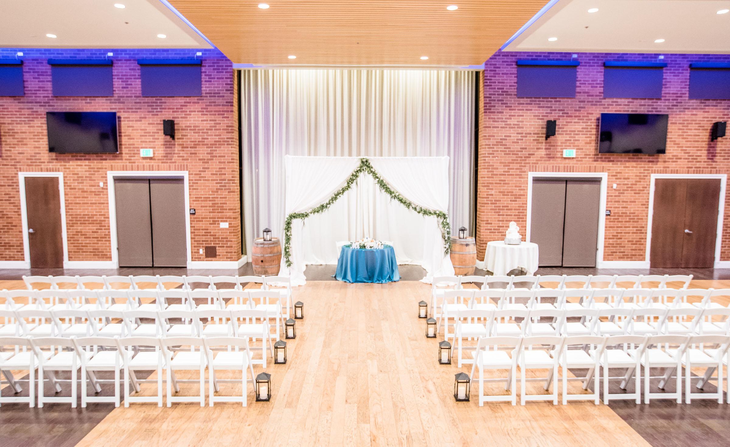 Indoor wedding ceremony - Evergreen Springs - Elk Grove, California - Sacramento County - Wedgewood Weddings