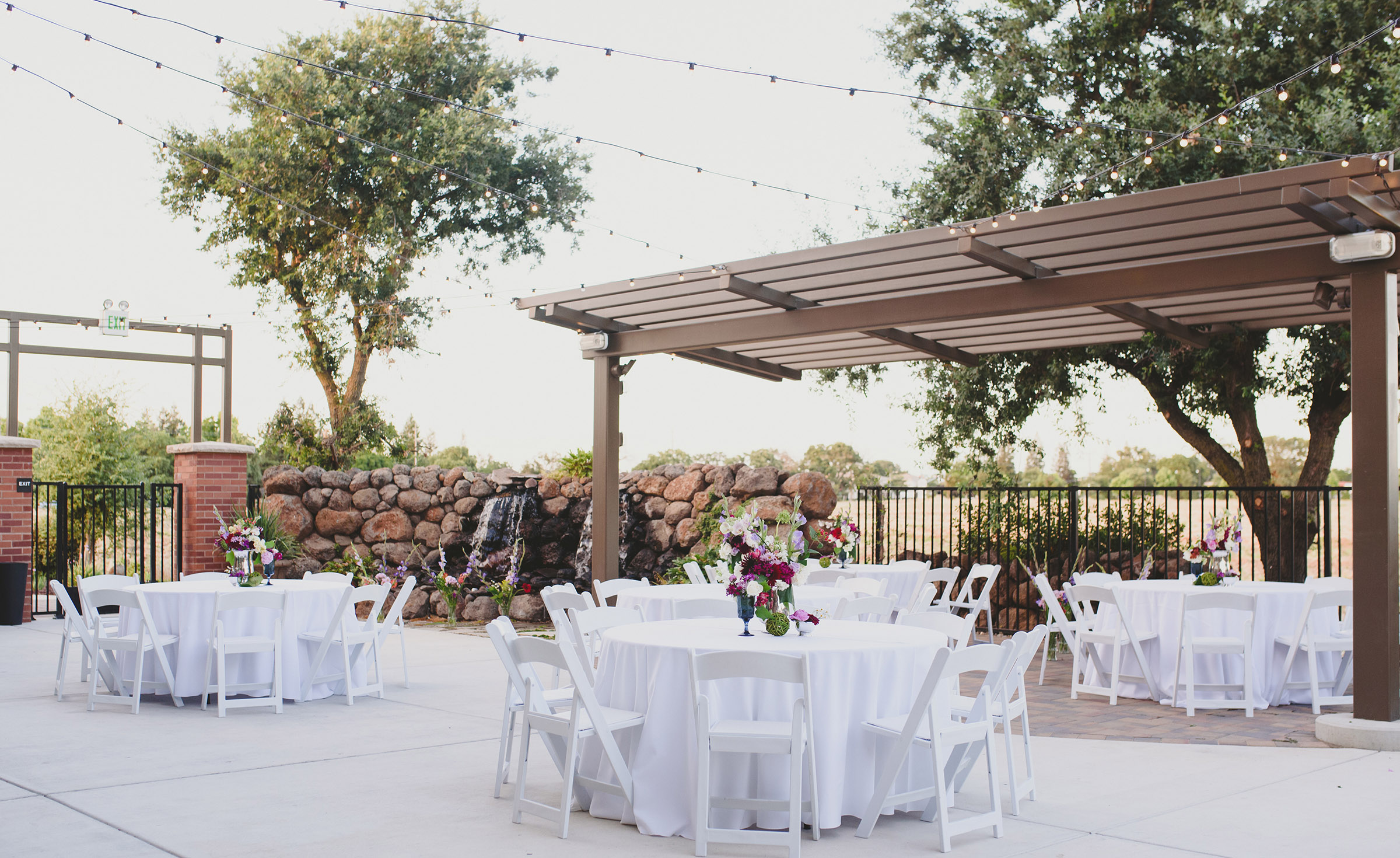 Outdoor wedding reception - Evergreen Springs - Elk Grove, California - Sacramento County - Wedgewood Weddings