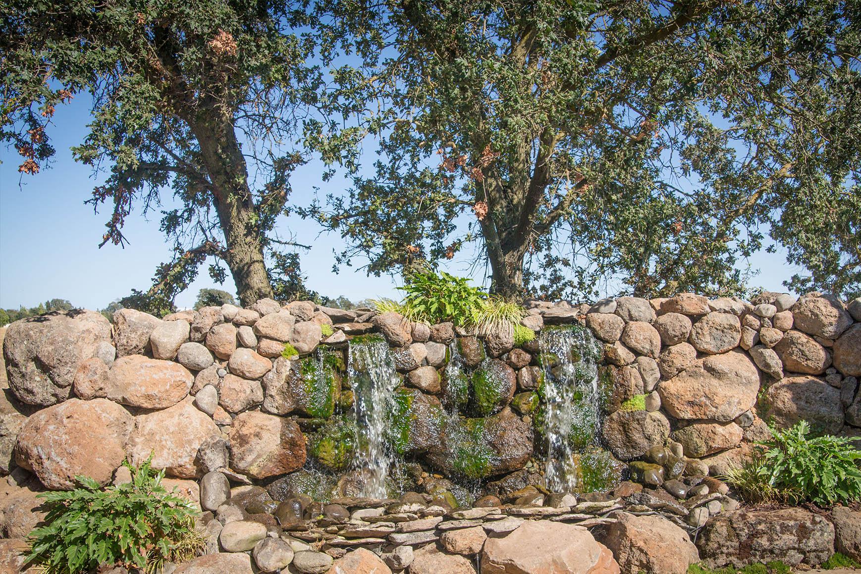 Waterfall feature at Wedgewood Weddings Evergreen Springs