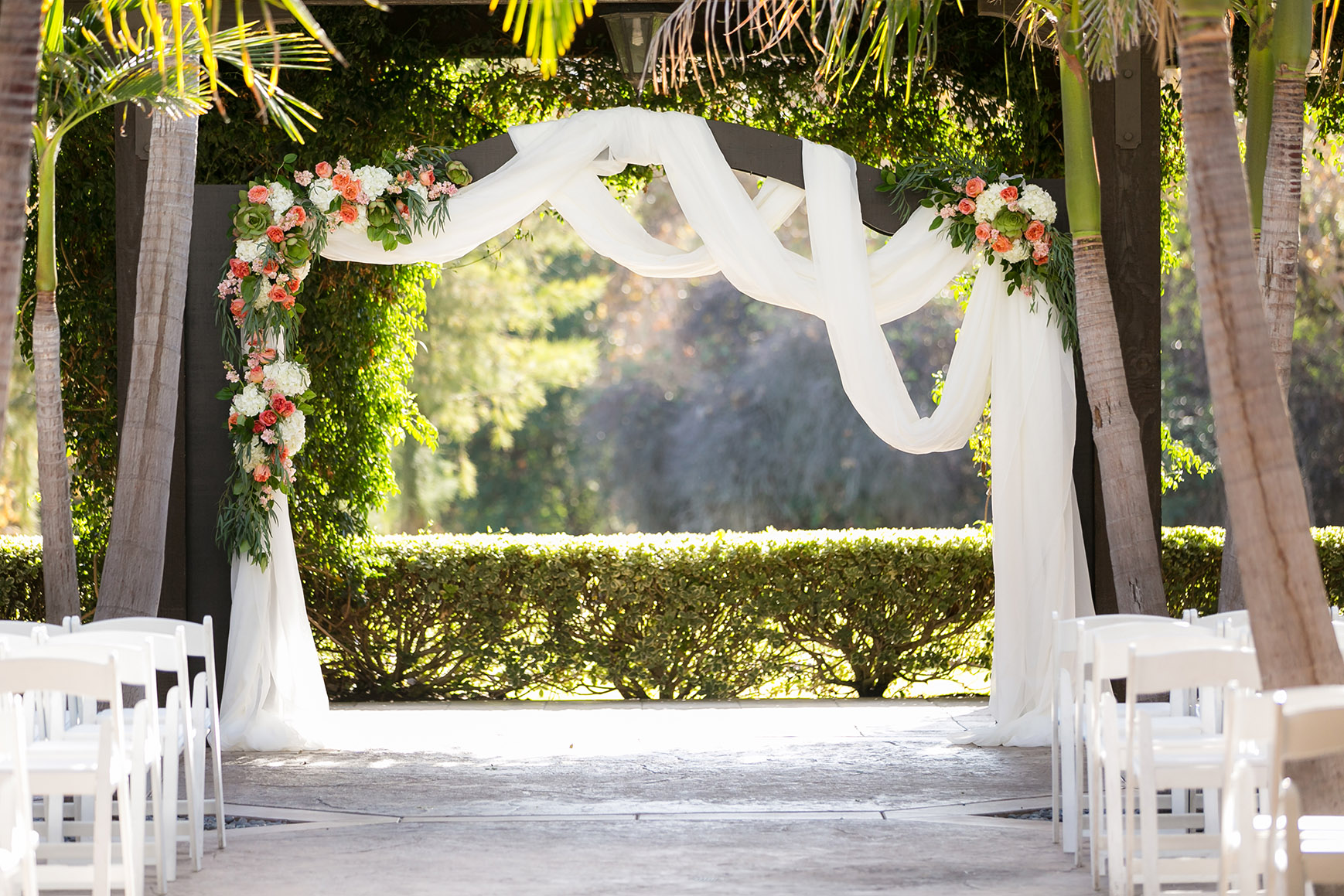 Decorative Ceremony Arbor - Fallbrook - Fallbrook, California - San Diego County - Wedgewood Weddings
