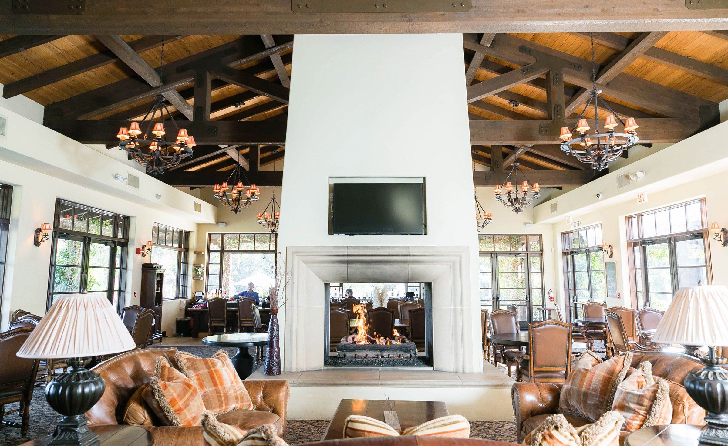 Fireplace bar lounge - Fallbrook - Fallbrook, California - San Diego County - Wedgewood Weddings