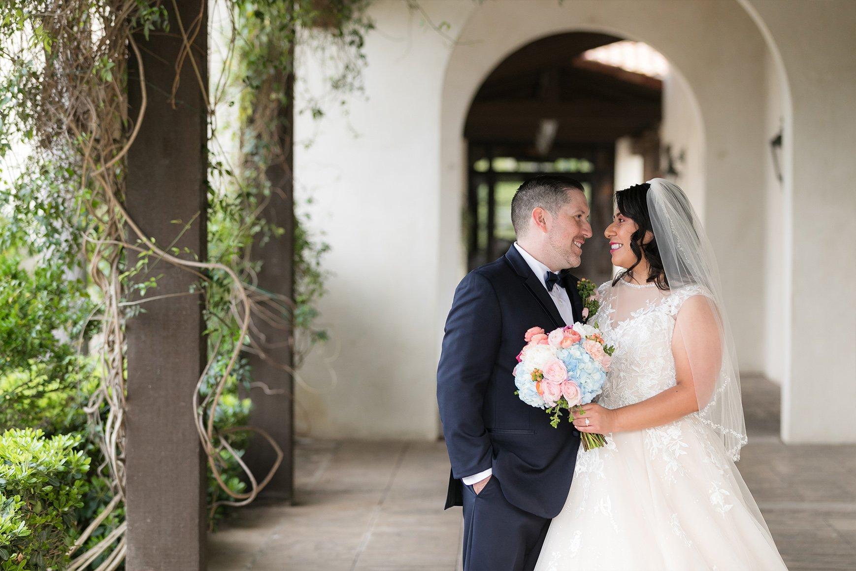 Romantic Bride and Groom - Fallbrook - Fallbrook, California - San Diego County - Wedgewood Weddings