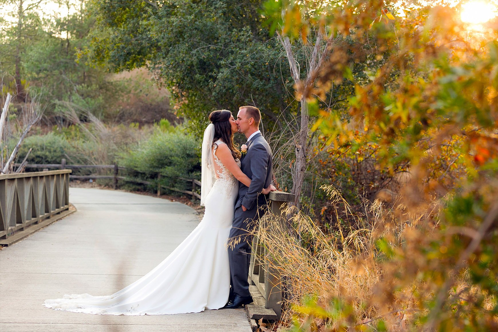 Couple at Sunset - Fallbrook - Fallbrook, California - San Diego County - Wedgewood Weddings