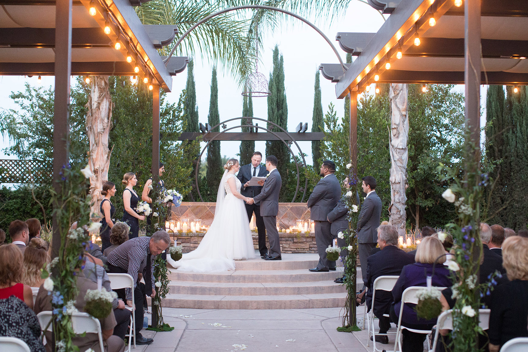 Candlelit ceremony - Fresno - Fresno, California - Frenso County - Wedgewood Weddngs