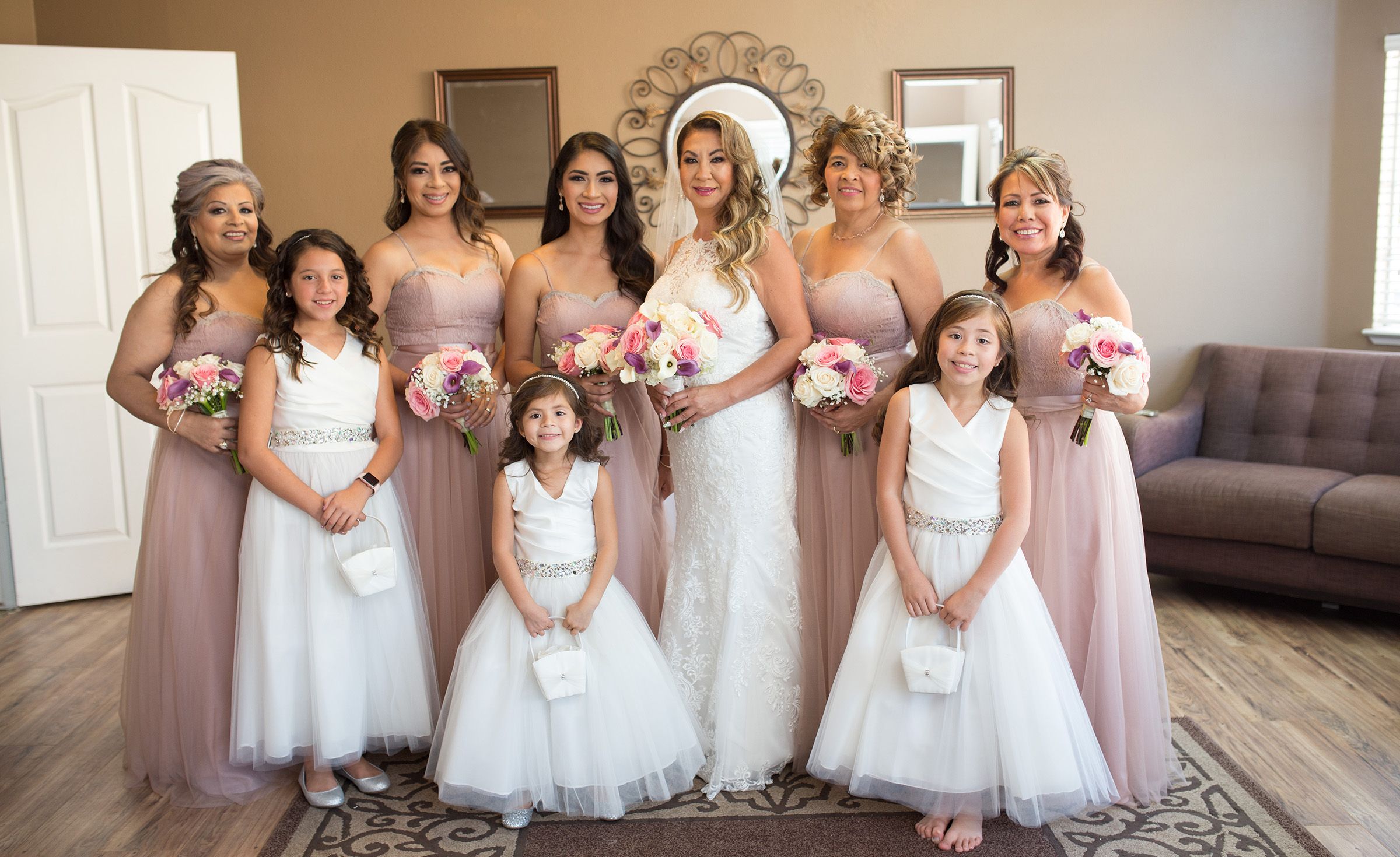Bridal party in our spacious dressing suite