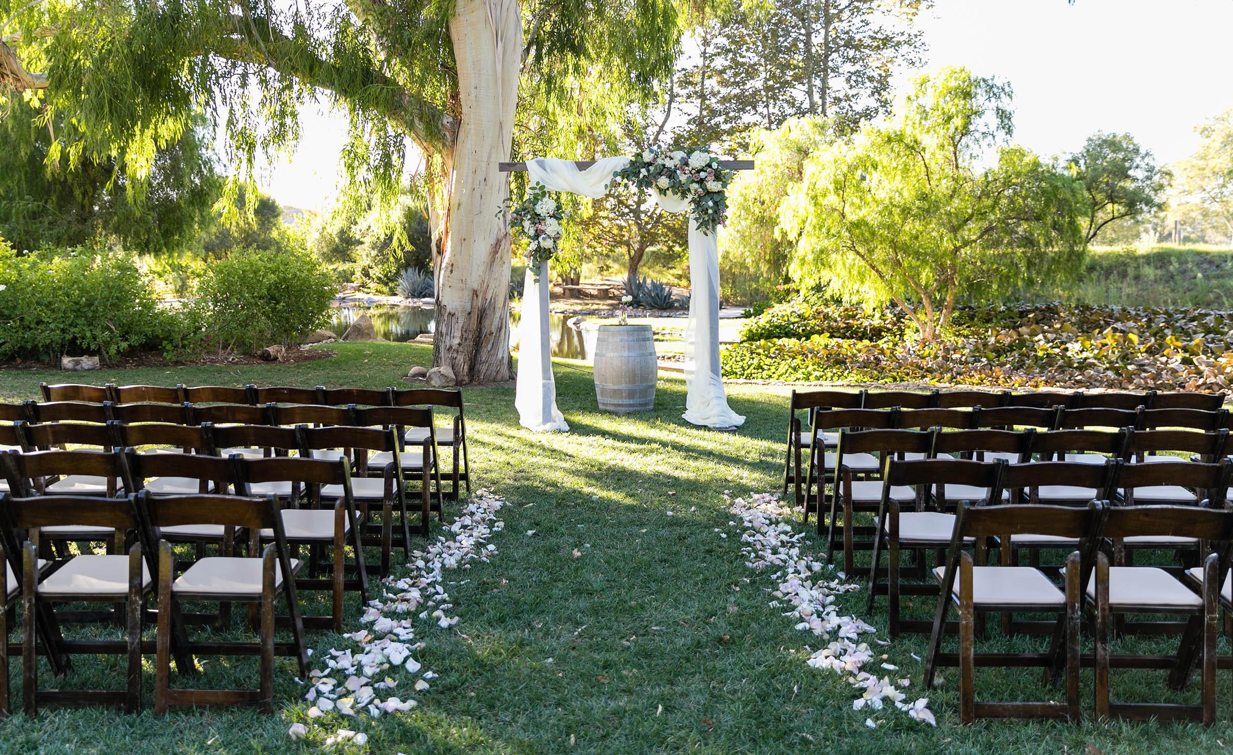 Meadow setting ceremony site Galway Downs - Temecula, California - Riverside County - Wedgewood Weddings