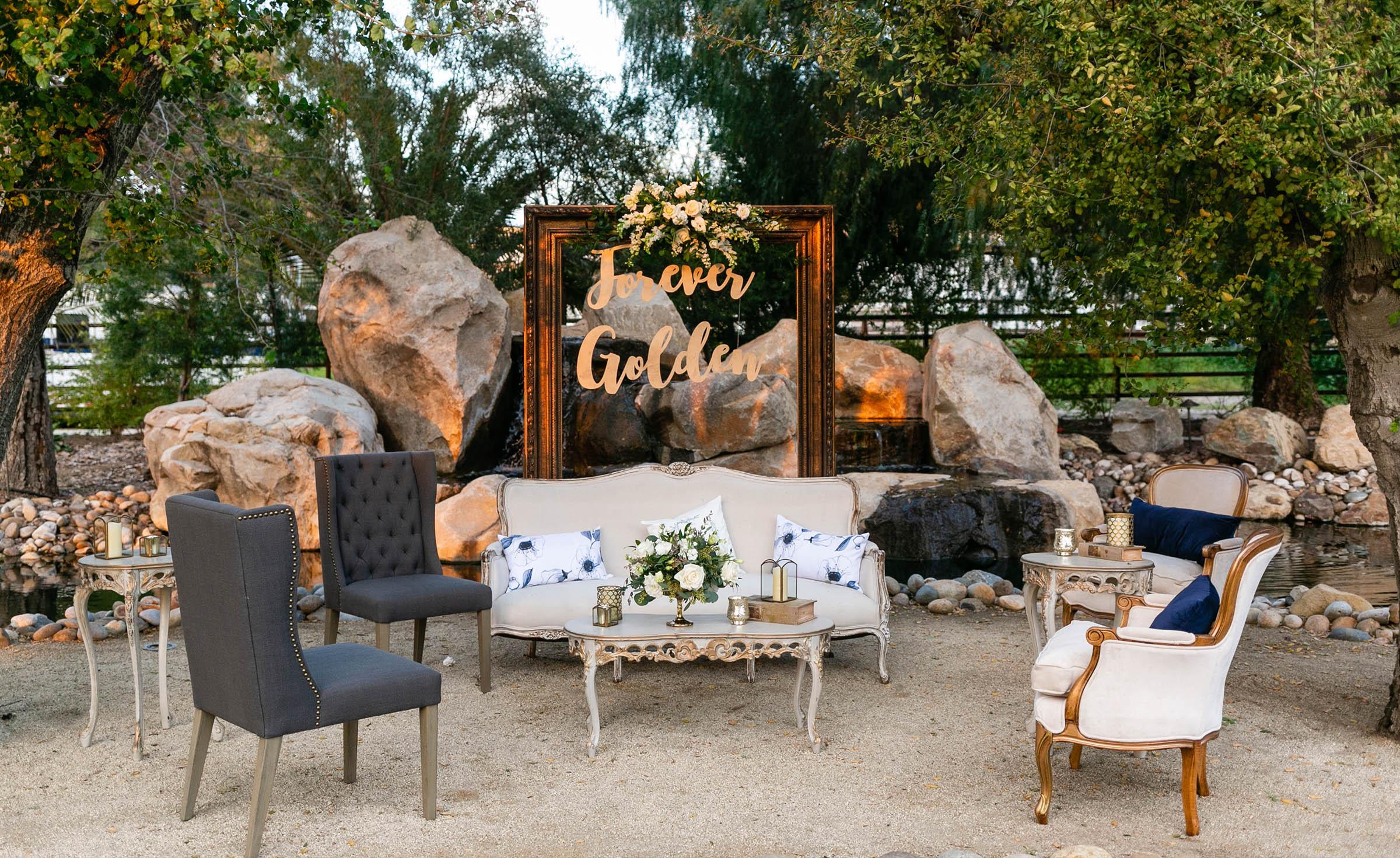 Outdoor Lounge - Temecula, California - Riverside County - Wedgewood Weddings