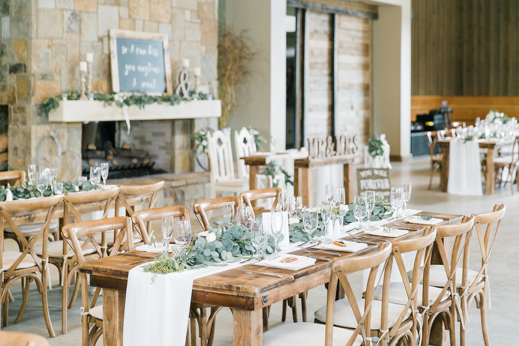 Rustic carriage house for your reception
