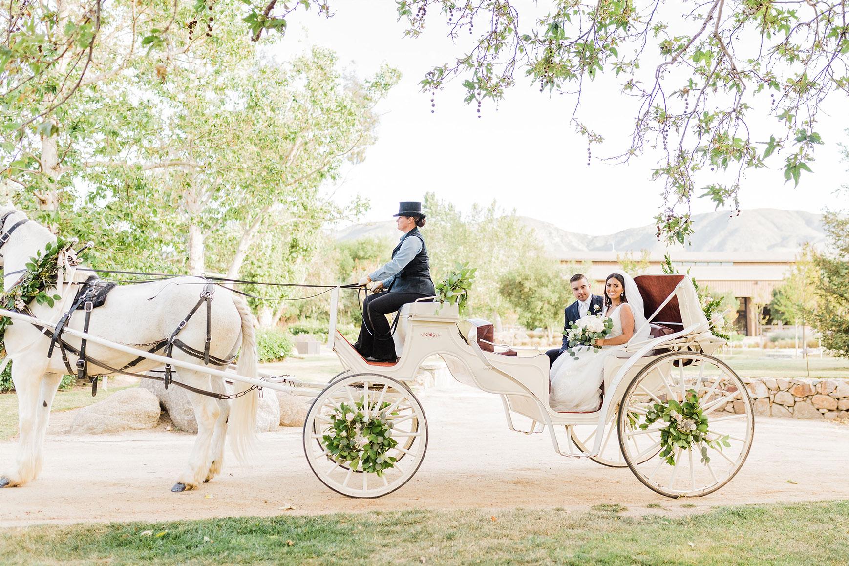 Fairytale Arrival - Galway Downs - Temecula, California - Riverside County - Wedgewood Weddings