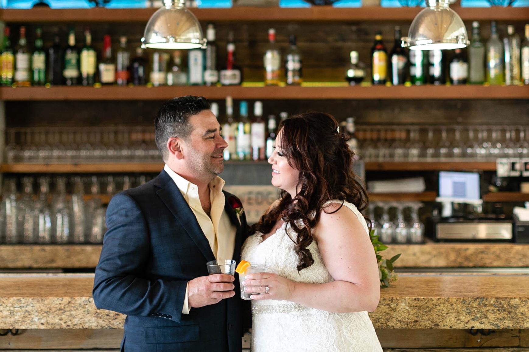 Kiss on the Bar - Galway Downs - Temecula, California - Riverside County - Wedgewood Weddings