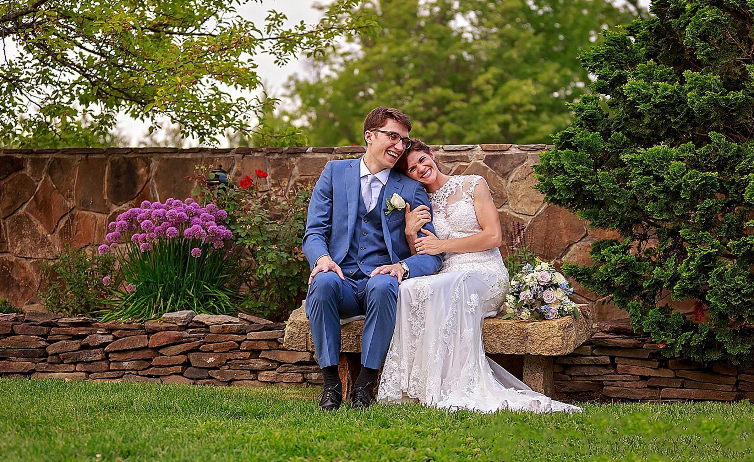 Happy Couple - Granite Rose - Hampstead, New Hampshire - Rockingham County - Wedgewood Weddings