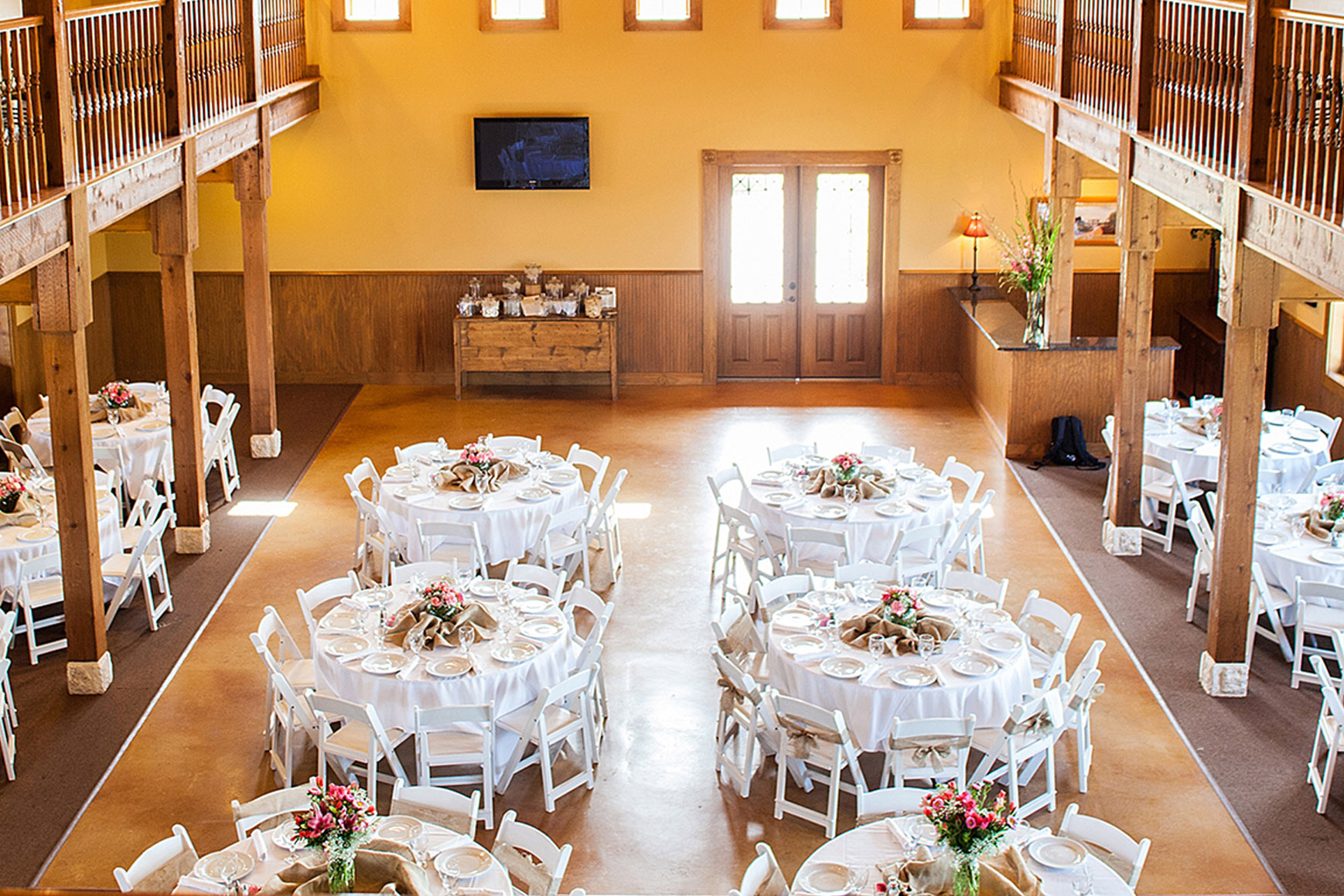 Banquet Room  - Hofmann Ranch - Castroville, Texas - Medina County - Wedgewood Weddings