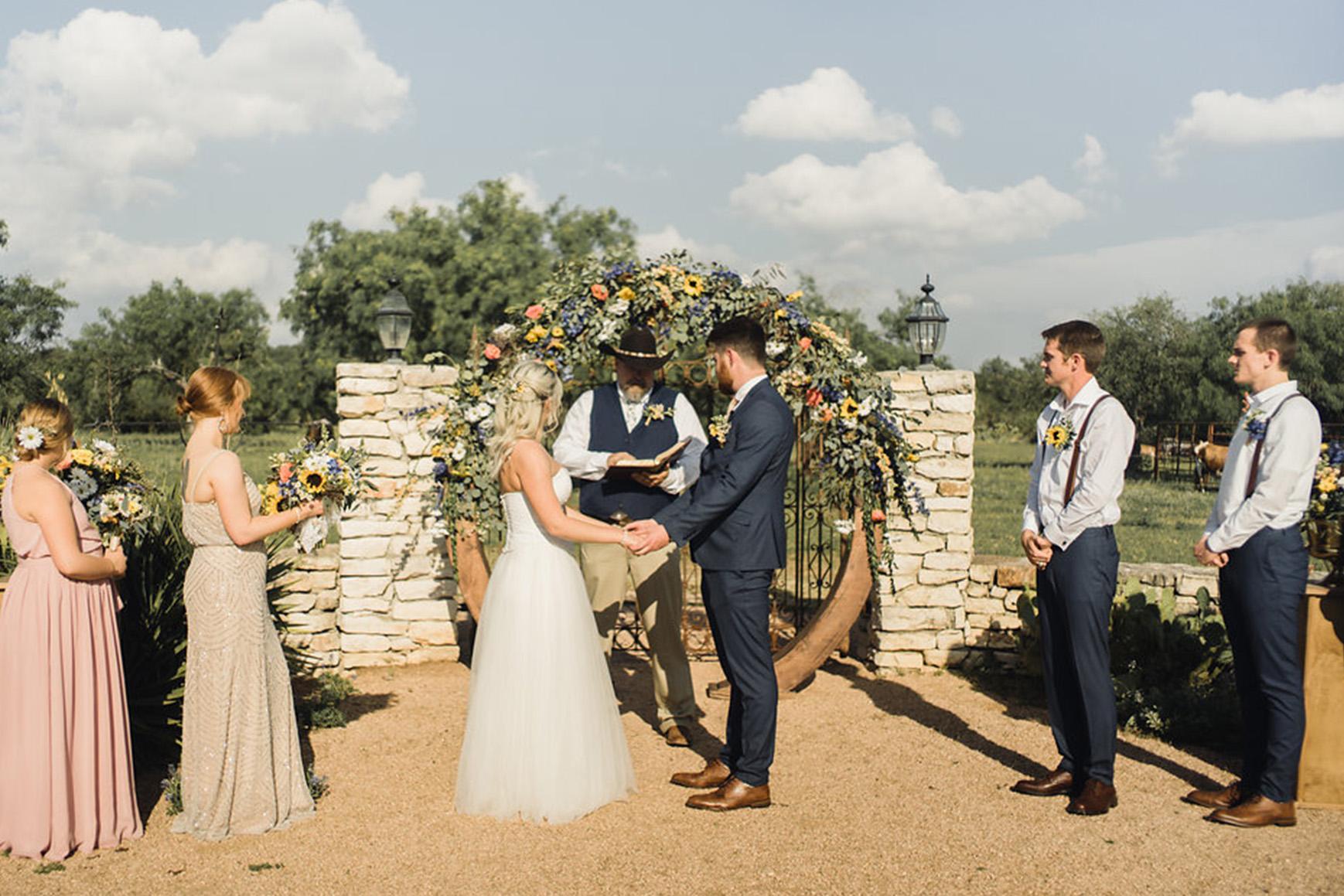 Ceremony - Hofmann Ranch - Castroville, Texas - Medina County - Wedgewood Weddings