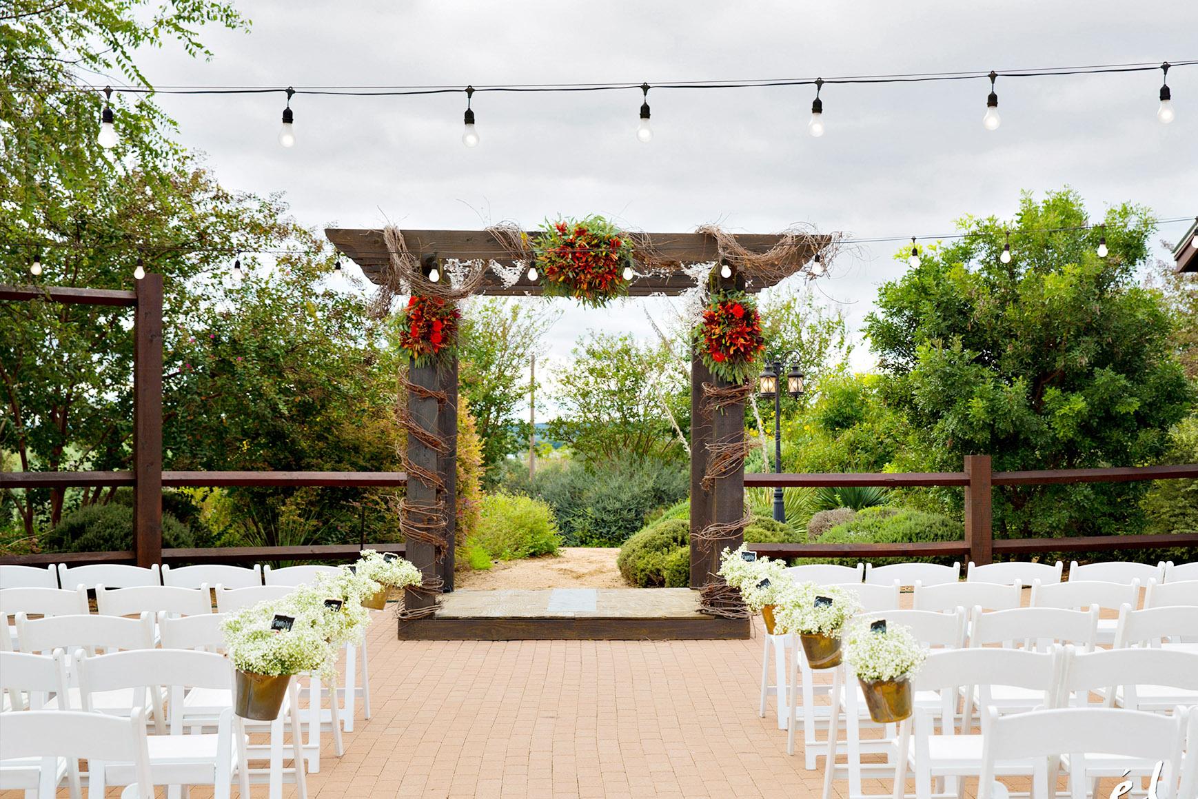 Outdoor Ceremony Site  - Hofmann Ranch - Castroville, Texas - Medina County - Wedgewood Weddings